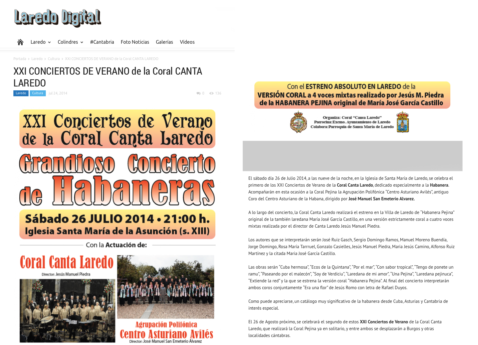 2014 julio 26 - Conciertos de Verano Coral de Laredo