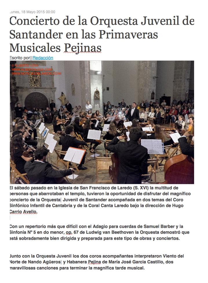 2015 mayo 18 - Orquesta Juvenil de Santander